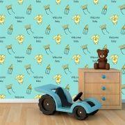 Papel de Parede Infantil Auto Adesivo Lavável 0036 Welcome baby