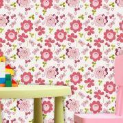 Papel de Parede Infantil Auto Adesivo Lavável 0075 Botão Rosa