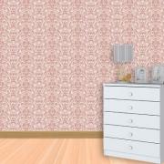 Papel de Parede Lavável Clássico Arabesco Rosa Clássico CA0033