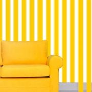 Papel de Parede Auto Adesivo Lavável  Listrado 0014 Amarelo Ouro