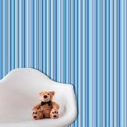 Papel de Parede Auto Adesivo Lavável  Listrado 0041 Tons de Azul