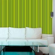 Papel de Parede Auto Adesivo Lavável  Listrado Verde Limão L0061