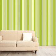 Papel de Parede Auto Adesivo Lavável  Listrado Verde Limão L0102