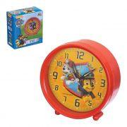 Relógio De Mesa Despertador Infantil Patrulha Canina Vermelho