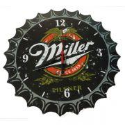 Relógio De Parede Miller Tampa de Garrafa