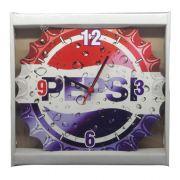 Relógio De Parede Pepsi Tampa de Garrafa