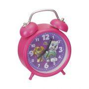 Relógio Infantil De Mesa Despertador Patrulha Canina Paw Patrol Girls Art Brink