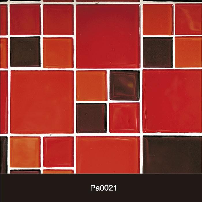 Papel de Parede Auto Adesivo Lavável Pastilha Pa0021 Vermelha  - Final Decor