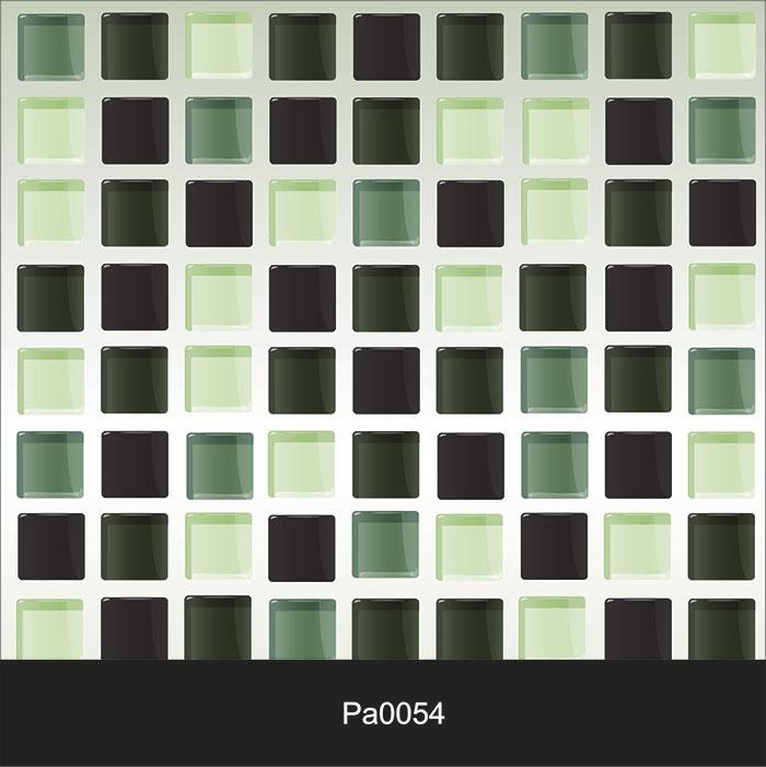 Papel de Parede Auto Adesivo Lavável Pastilha Pa0054 verde  - Final Decor