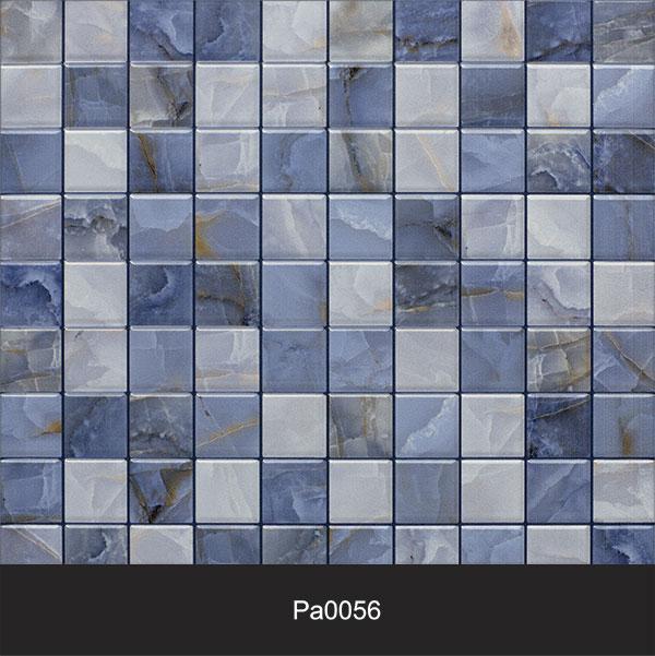 Papel de Parede Auto Adesivo Lavável Pastilha Pa0056 Azul Marinho  - Final Decor