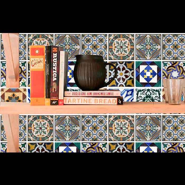 Papel de Parede Auto Adesivo Lavável Azulejo a0007  - Final Decor