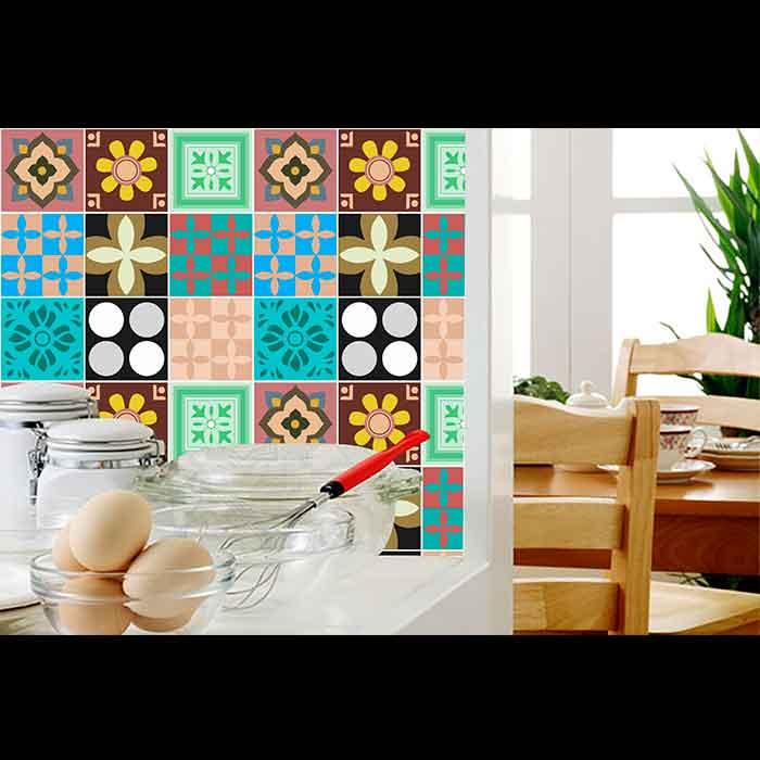 Papel de Parede Auto Adesivo Lavável Azulejo a0015 Moderno Cozinha  - Final Decor
