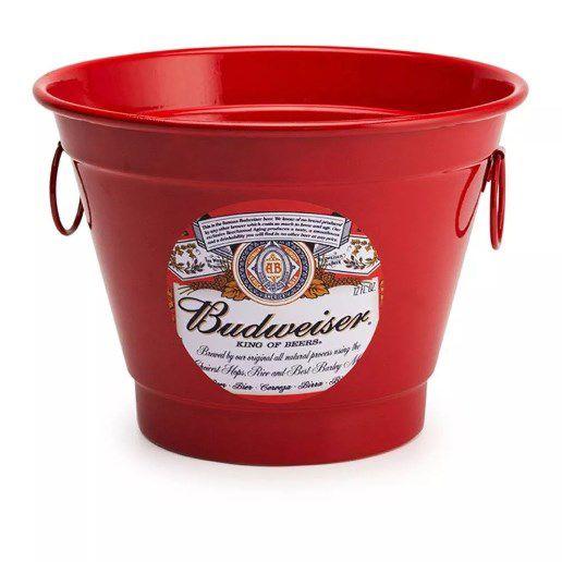 Balde de Gelo 6 Litros Personalizado Cerveja BudWeiser  - Final Decor