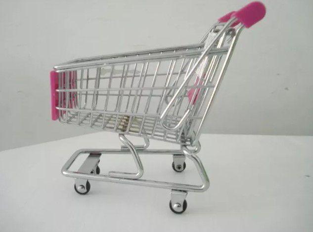 Carrinho Supermercado Organizador Mesa Porta Canetas  - Final Decor