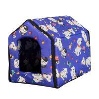 Casa Casinha Cama Almofadada Pet Cães Gatos  Grande 42x42*35  - Final Decor
