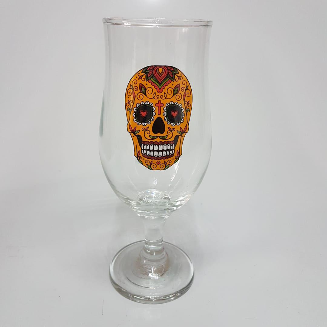 Conjunto 2 Taças de Chopp e Cerveja de Caveira - 340 Ml  - Final Decor