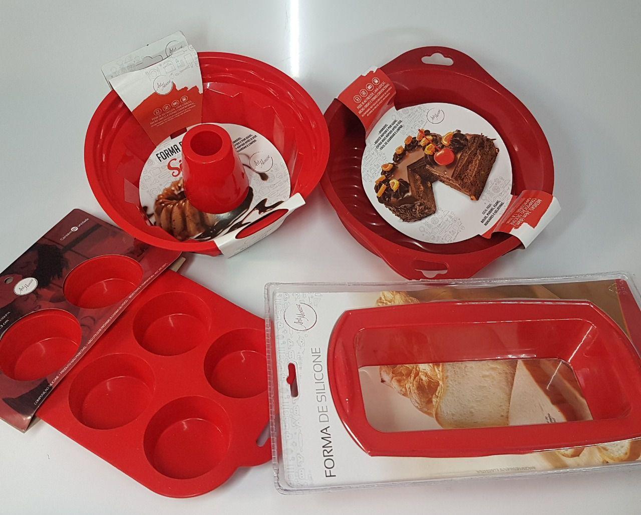 Conjunto de Formas de Silicone para Pães, Bolos, Cupcake e Pudim - Art House  - Final Decor