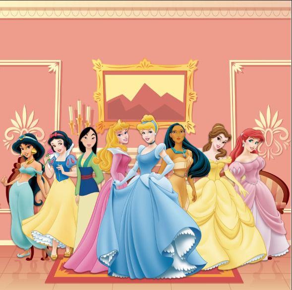 Papel de Parede Adesivo Princesas Castelo  - Final Decor