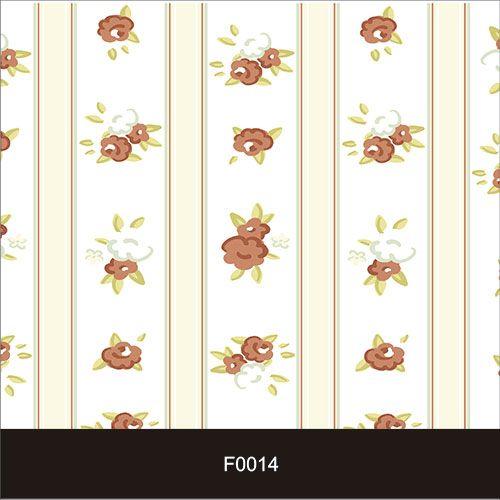 Papel de Parede Adesivo Lavável f0014 Floral Listras  - Final Decor
