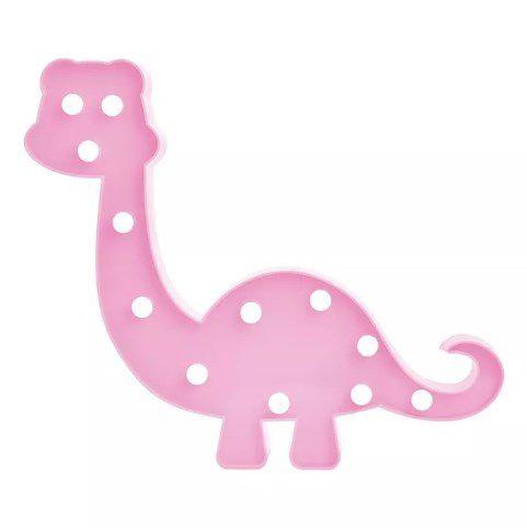 Decoração Luminosos Led Dinossauro Rosa- Quarto Bebe  - Final Decor