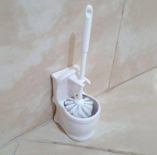 Escova Sanitária Com Suporte Em Cerâmica modelo Vaso  - Final Decor