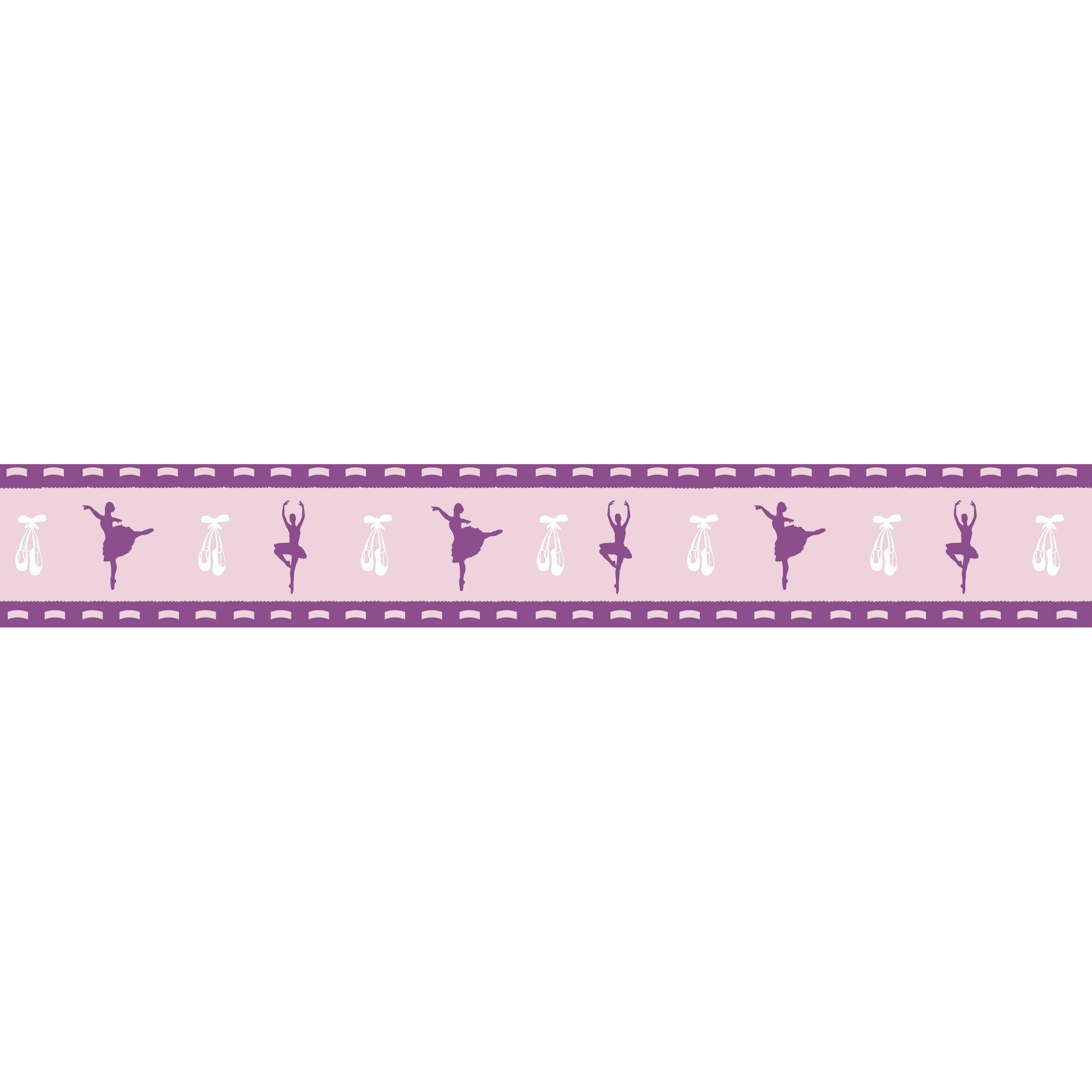 Faixa Decorativa Adesiva Bailarinas Violeta  - Final Decor
