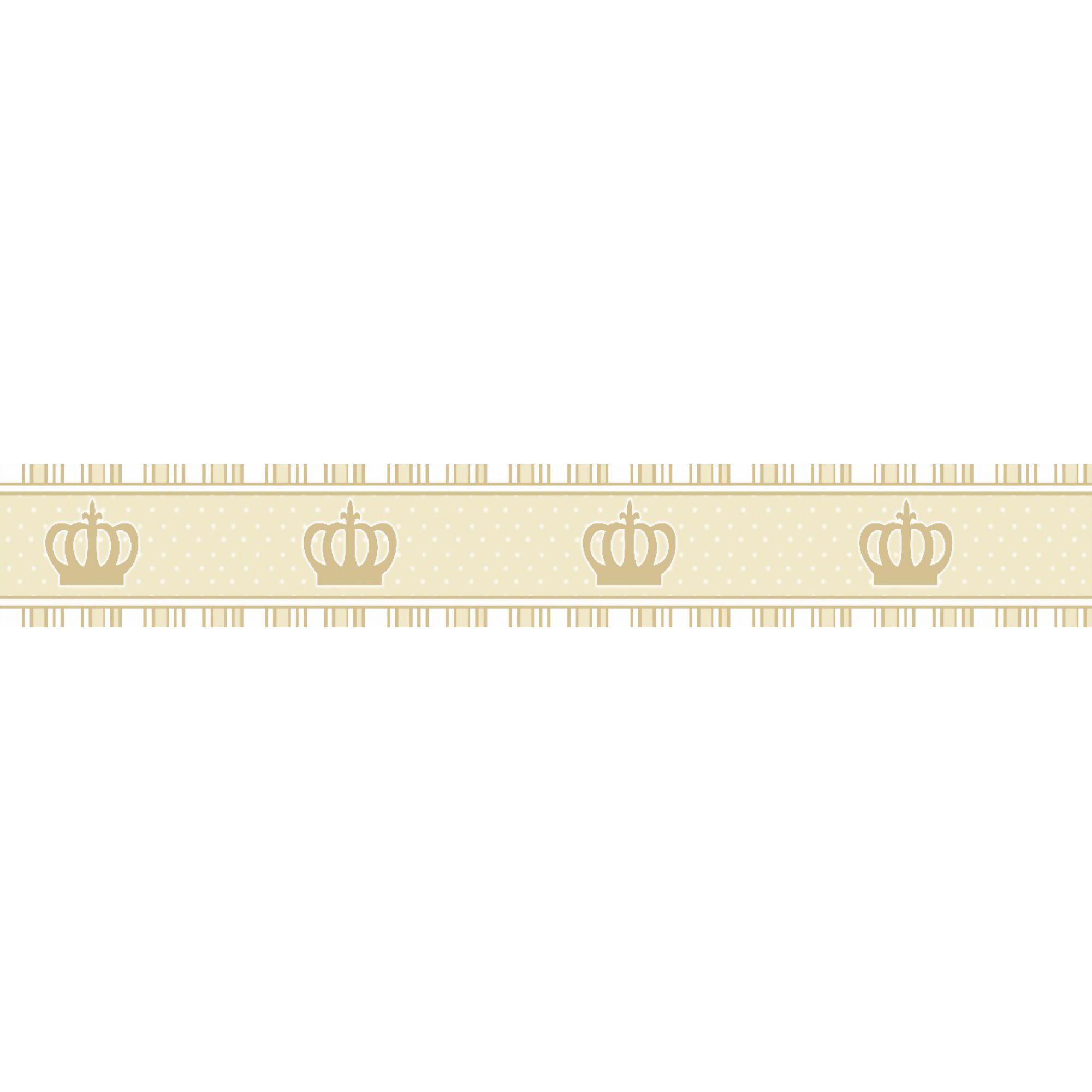 Faixa Decorativa Adesiva Coroa Bege  - Final Decor