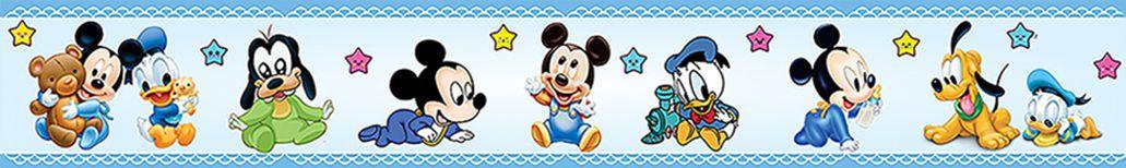 Faixa Decorativa Adesiva Mickey Azul  - Final Decor