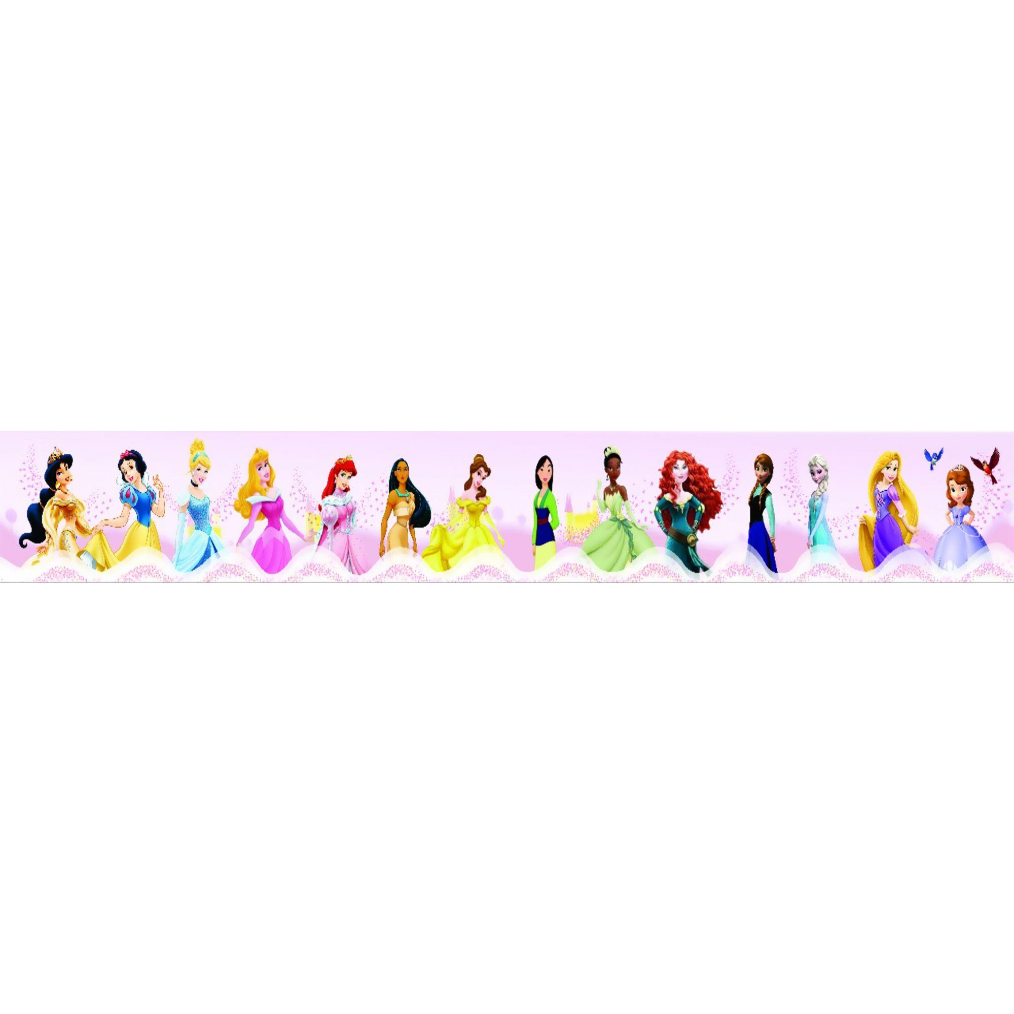 Faixa Decorativa Adesiva Princesas frozem  - Final Decor