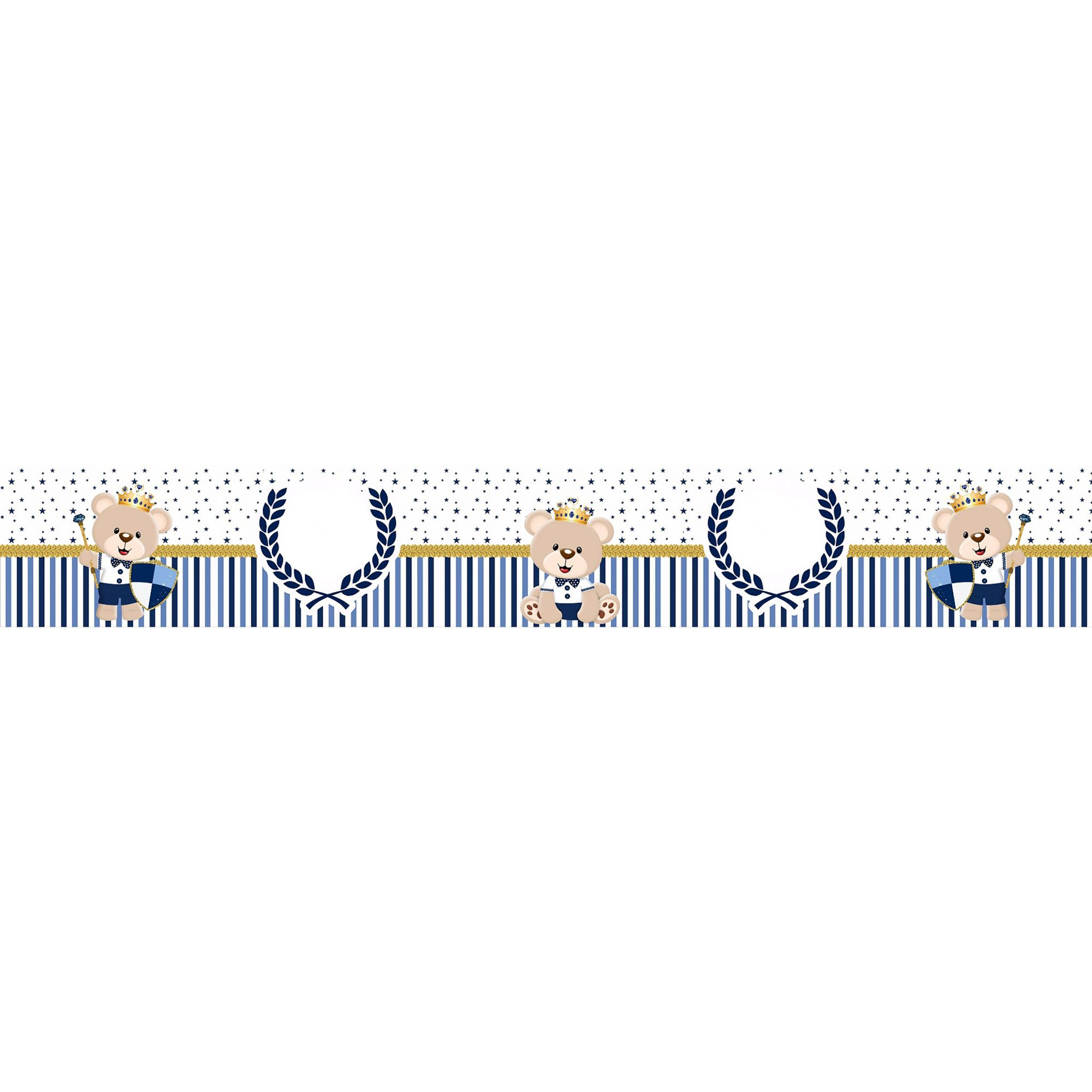 Faixa Decorativa Adesiva Ursinho Rei Principe  - Final Decor