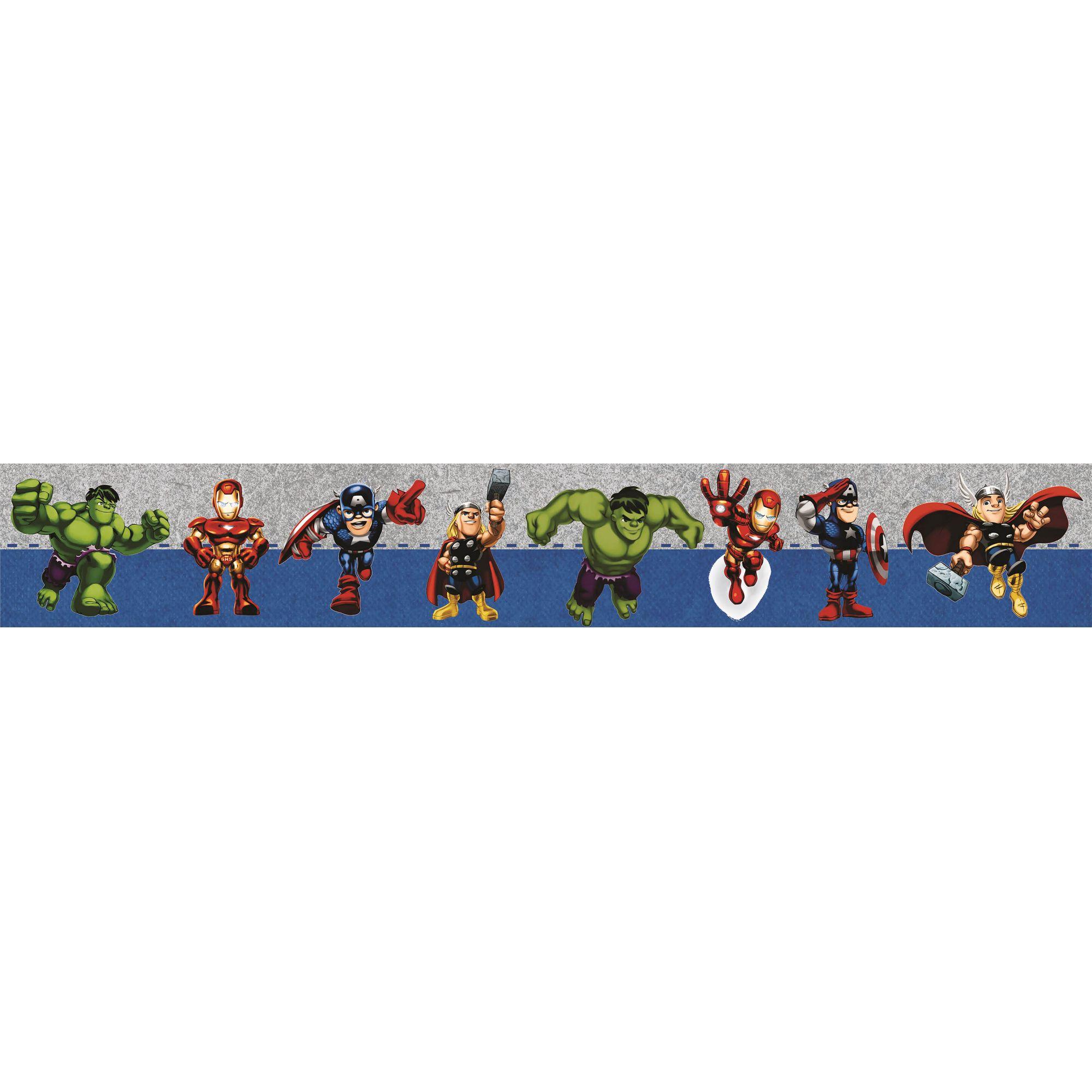 Faixa Decorativa Adesiva vingadores baby  - Final Decor