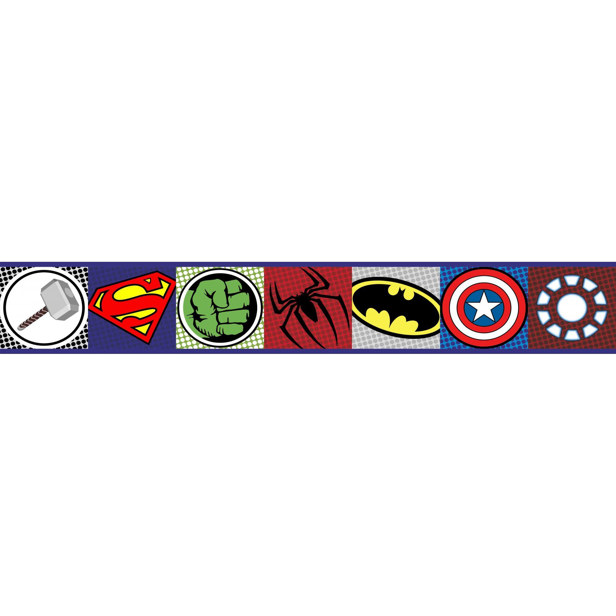 Faixa Decorativa Adesiva Vingadores Logo  - Final Decor