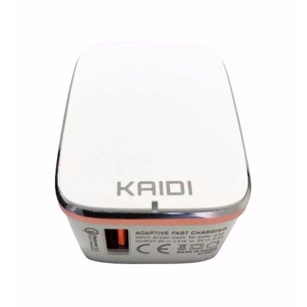 Fonte Carregador Parede Usb Turbo Kaidi Kd-101 3.0a Original  - Final Decor