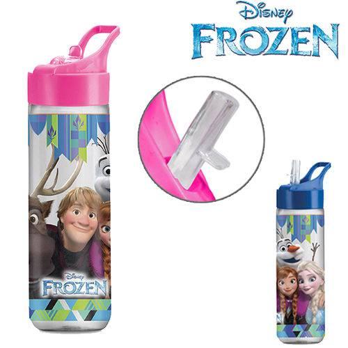 Garrafa Squeeze De Plastico  Frozen Silk Com Tampa Flip Rosa  - Final Decor