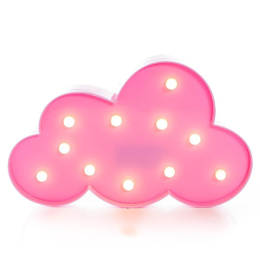 Luminária Abajur Decorativa Nuvem Rosa Luminosa Led  - Final Decor