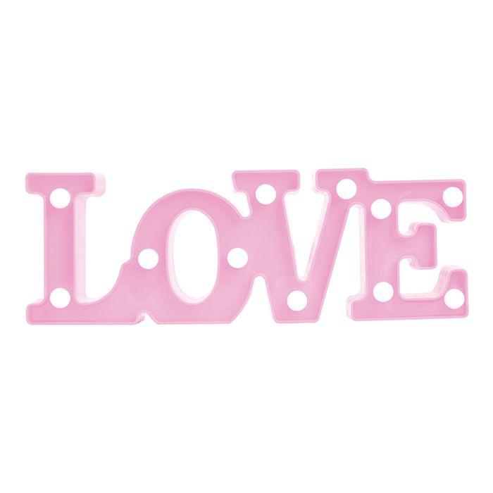 Luminoso Led Love Rosa   - Final Decor