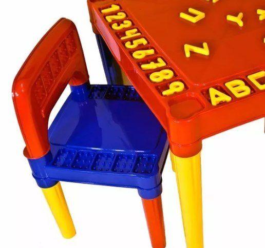 Mesa Infantil Educativa Desmontável Com 2 Cadeiras  - Final Decor