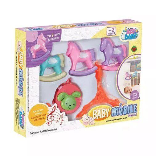 Mobile Musical Para Berço / Brinquedo De Berço Cavalinho - Art baby  - Final Decor