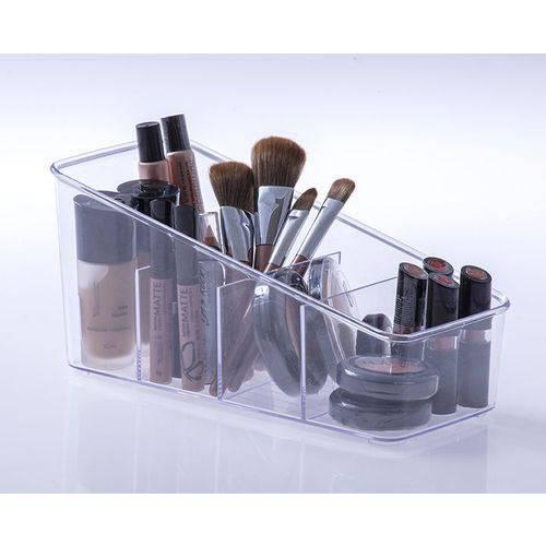 Organizador Transparente 4 divisões Maquiagem Cozinha  Multiuso  - Final Decor