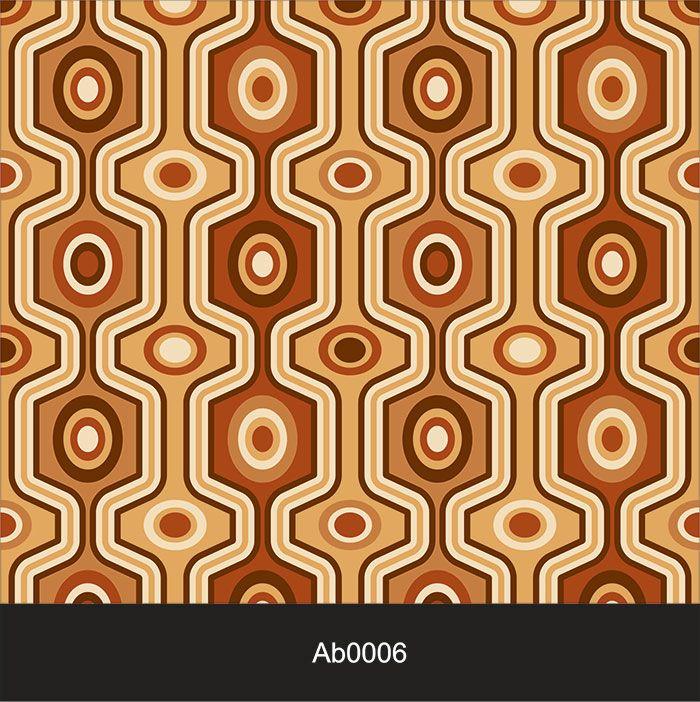 Papel de Parede Auto Adesivo Lavável Abstrato Retrô Marrom AB0006  - Final Decor