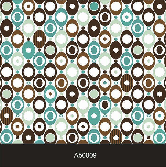 Papel de Parede Auto Adesivo Lavável Abstrato Retrô Azul e Marrom AB0009  - Final Decor