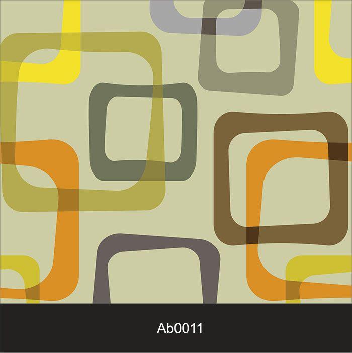 Papel de Parede Auto Adesivo Lavável Abstrato ab0011 Quadrados Coloridos Retrô  - Final Decor
