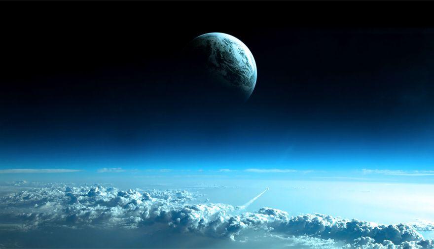 Papel de Parede Adesivo Espaço, Lua, Céu  - Final Decor