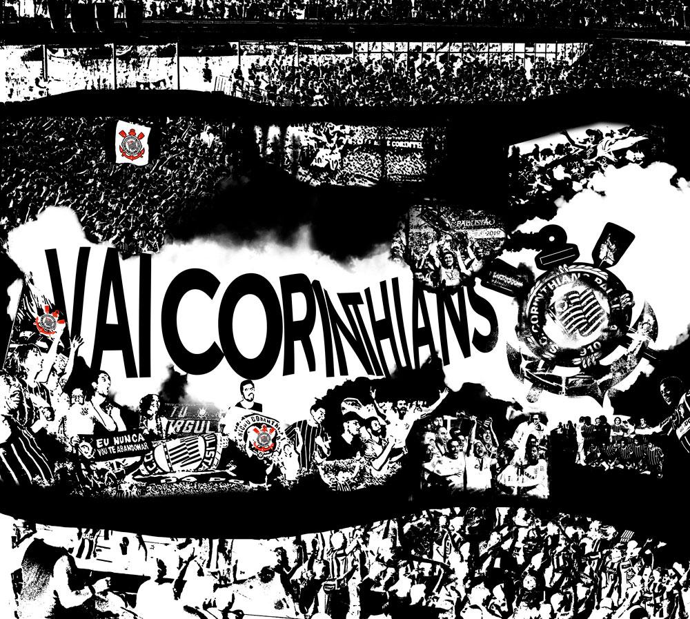 Papel De Parede Adesivo, Futebol Corinthians 1X1  - Final Decor