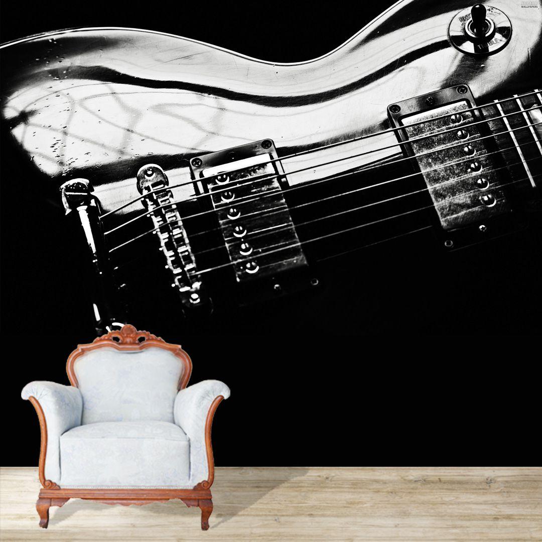 Papel de Parede Adesivo, Guitarra, Som, Música  - Final Decor