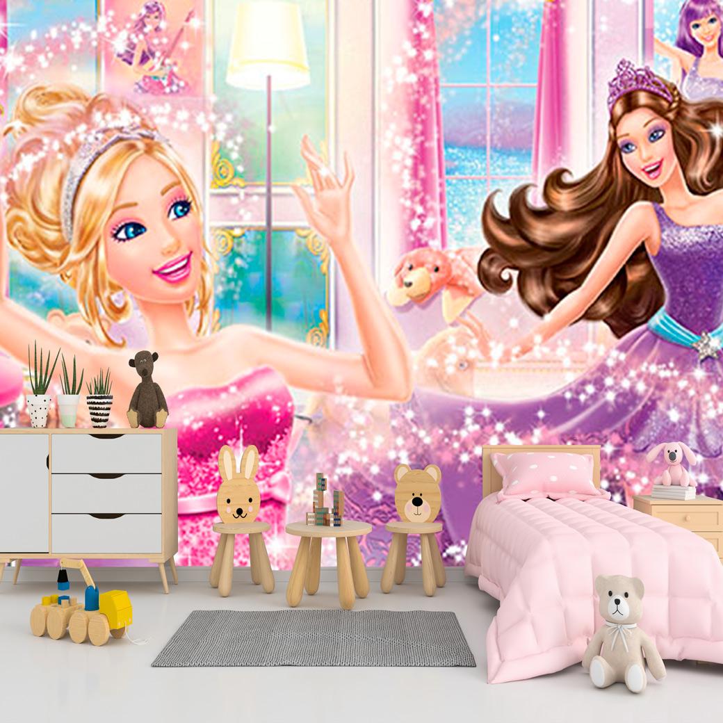Papel De Parede Adesivo, Infantil Barbie 1X1  - Final Decor