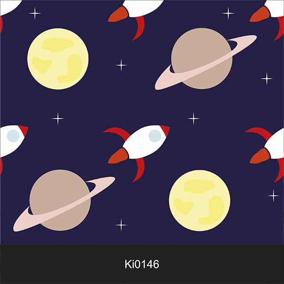 Papel de Parede Adesivo Infantil Espaço Sistema Solar Ki0147  - Final Decor