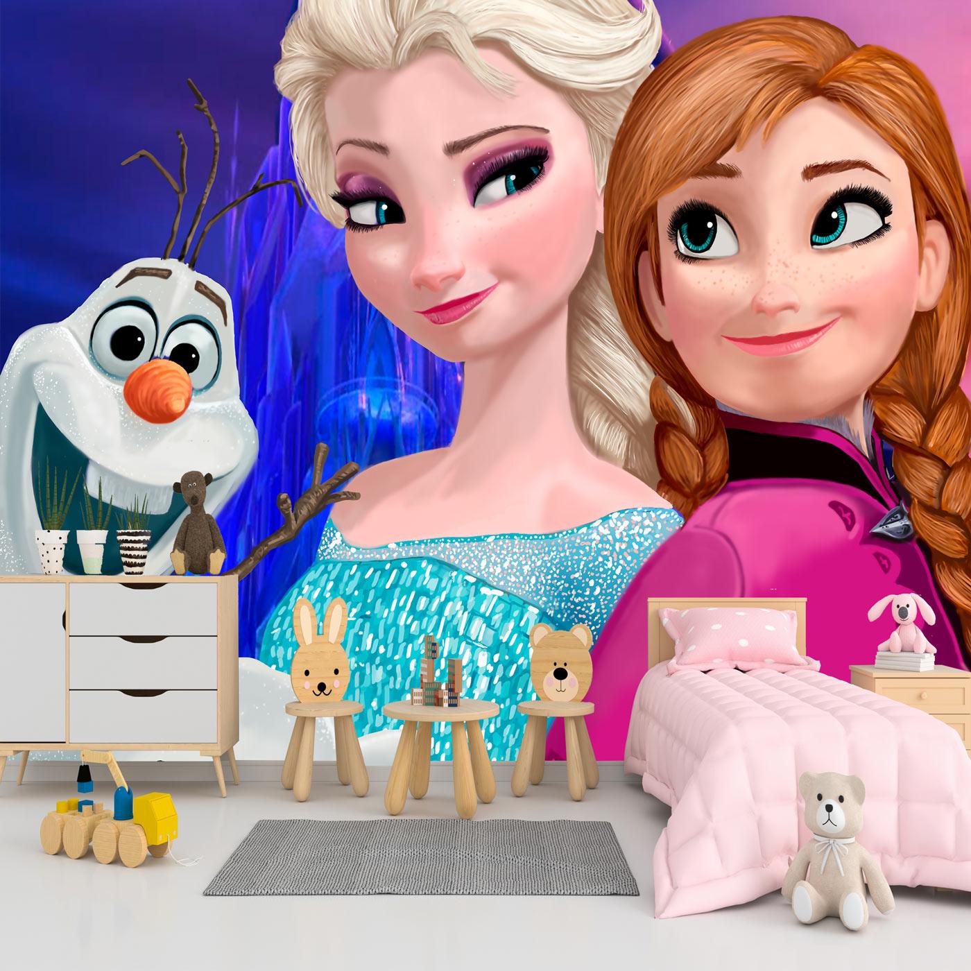 Papel de Parede Adesivo, Infantil Frozen com Olaf 1X1  - Final Decor