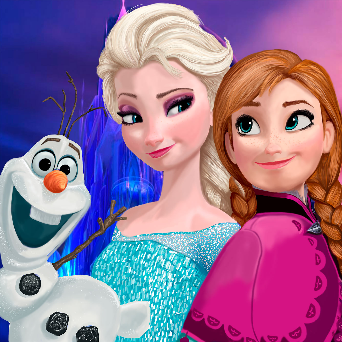 Papel de Parede Adesivo, Infantil Frozen com Olaf  - Final Decor