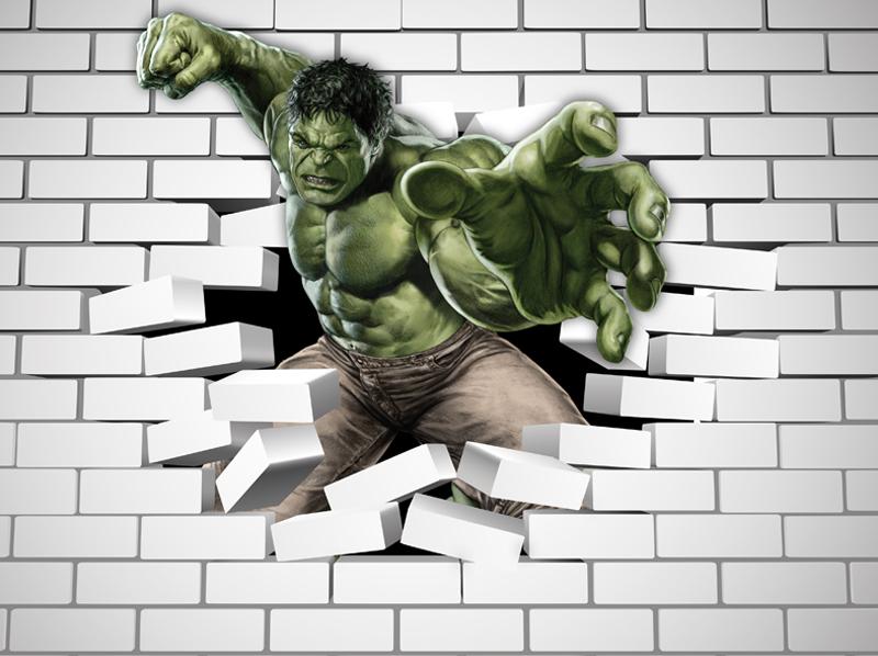 Papel De Parede Adesivo, Infantil Marvel Hulk Dos Vingadores 1X1  - Final Decor